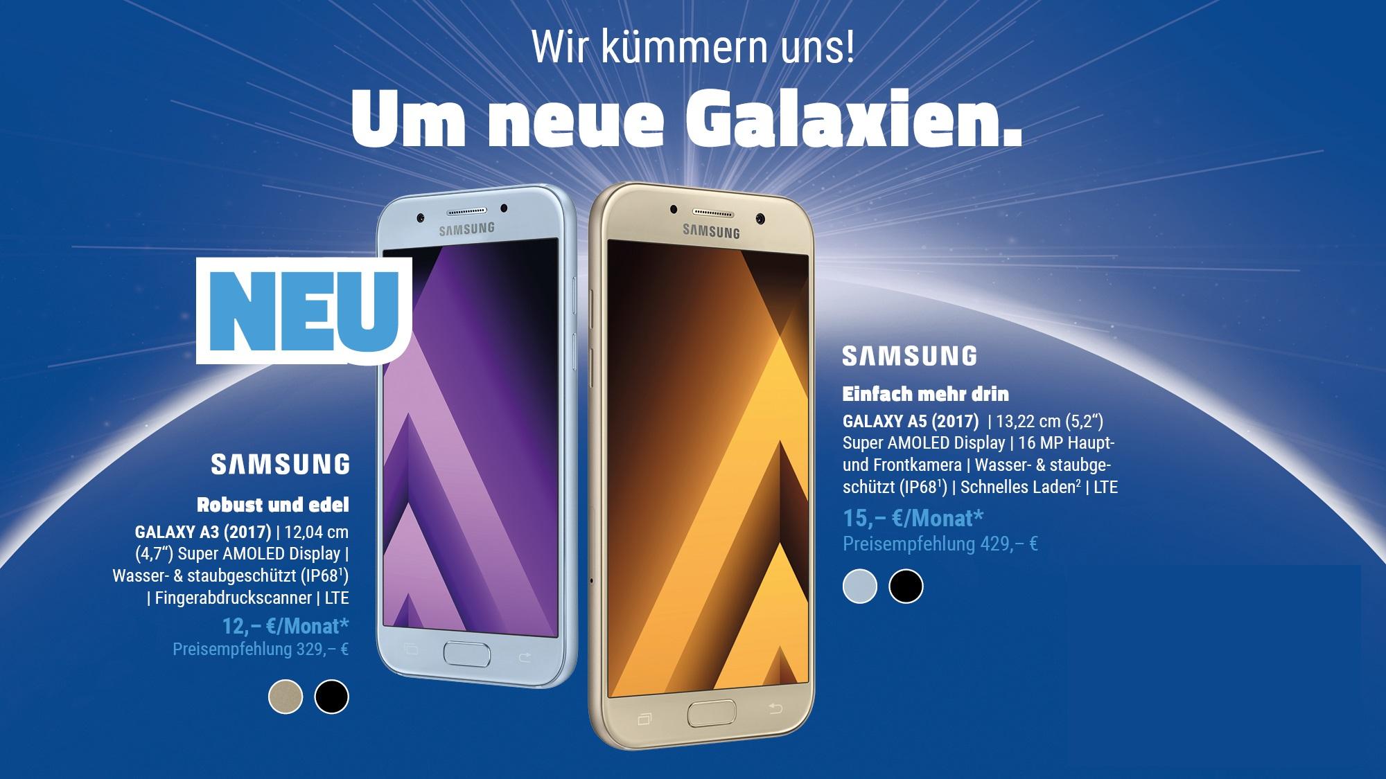 Galaxy A3 und A5 (2017) zum Hammerpreis