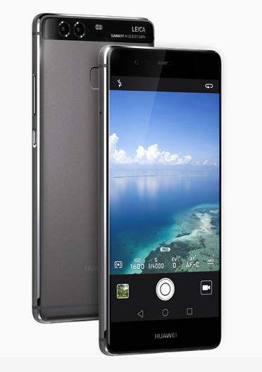 Huawei P9 black front back