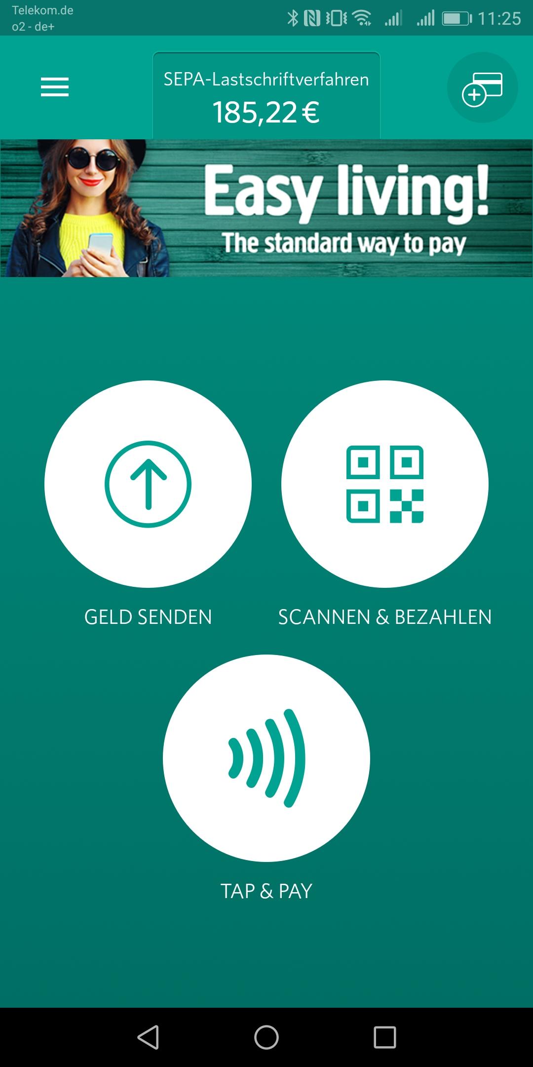 Screenshot Startbildschirm SEQR App