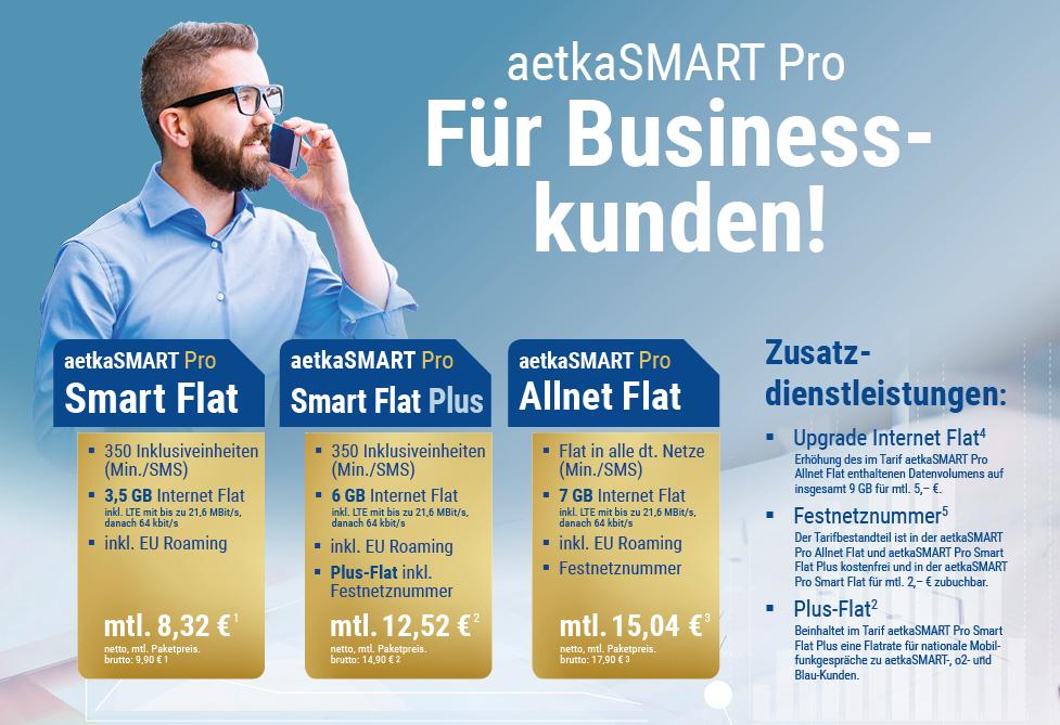 Tarifübersicht - Unser Haustarif aetkaSMART Pro