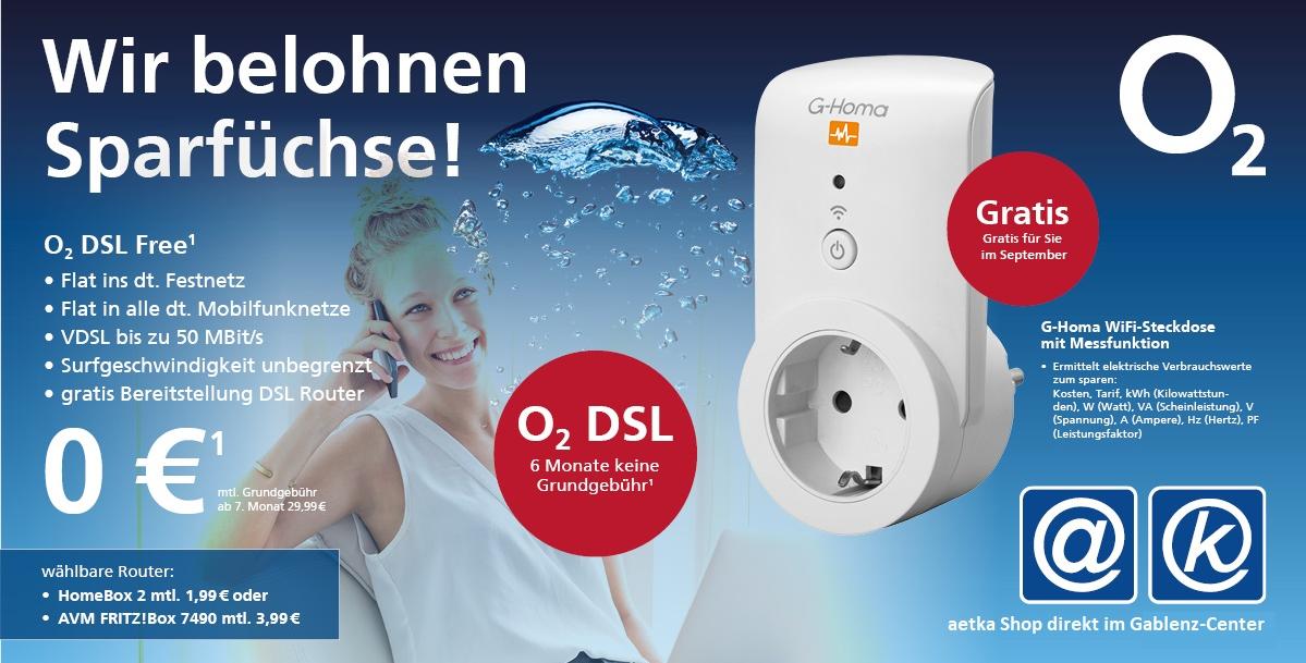 o2 DSL Free Aktion im September