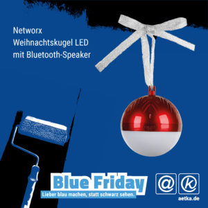 Networx Weihnachtskugel LED mit Bluetooth Speaker