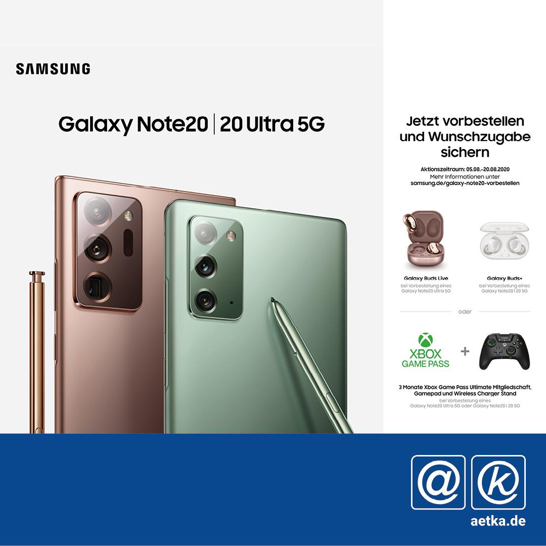 Galaxy Note 20 und 20 Ultra 5G Samsung